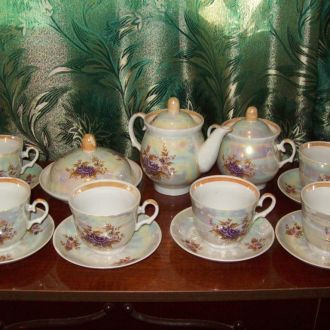 Чайный сервиз. Барановка,СССР,из 15 предметов.