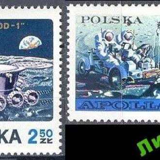 Польша 1971 космос Луна луноход ** есть с купоном
