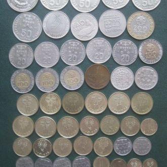 Колекція монет Португалії 1-200 ескудо, 55шт.-опис