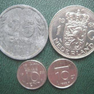 Набір 4 монети 10 центів-1 гульден, Нідерланди