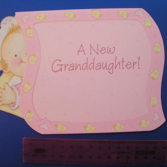 Открытка США C Рождением внучки