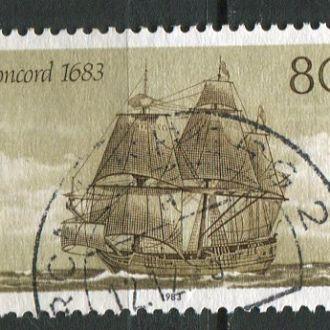 Германия ФРГ Корабли Парусник Конкорд 1683 г. гаш