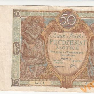 ПОЛЬША 50 злотых 1929 год