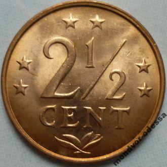 Нидерландские Антилы 2 1:2 цента 1976 состояние
