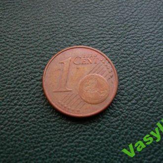 Германия 1 евро цент 2002 г. D  Сохран!