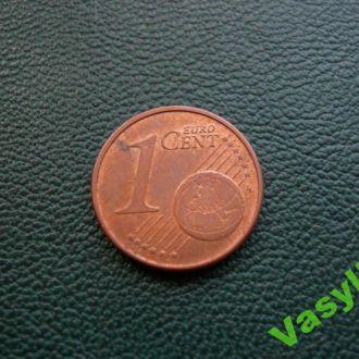 Германия 1 евро цент 2008 г. D  UNC!!!