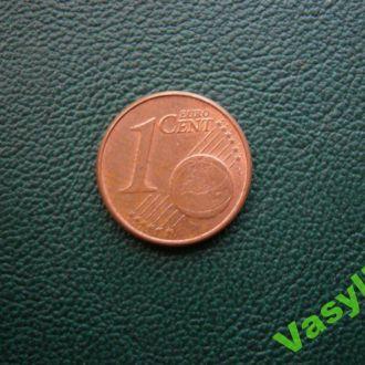 Германия 1 евро цент 2002 г. F  Сохран!!!