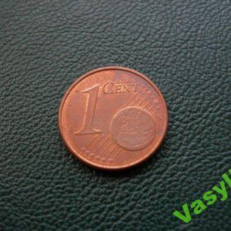 Германия 1 евро цент 2002 г. J  Сохран!!!