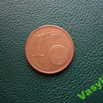 Германия 1 евро цент 2002 г. A  Сохран!!!