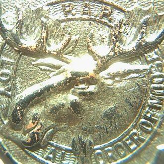 жетон сша 1917г  охотничьего общества лося