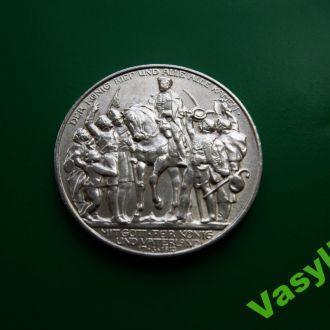 Пруссия 2 марки 1913 г. Победа над Наполеоном UNC!