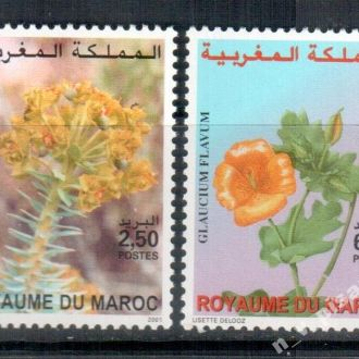 Марокко 2001 Флора Цветы MNH