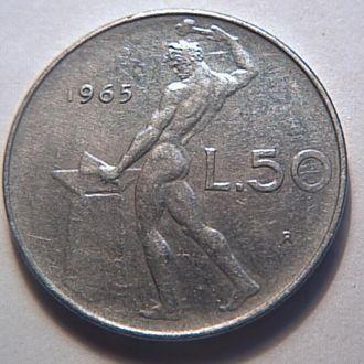 Италия 1965 г  50 лир