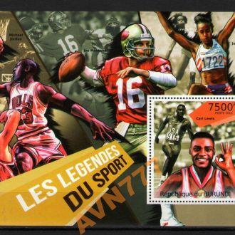 Бурунди 2012 Легенды спорта Льюис Джордан блок **