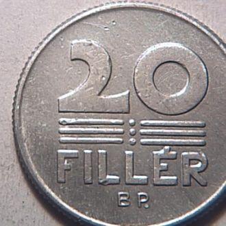 Венгрия 20 филеров 1968 г №2