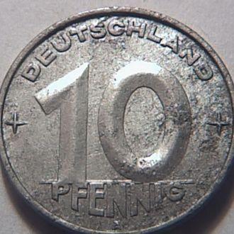 Германия ГДР 10 пфенингов 1952