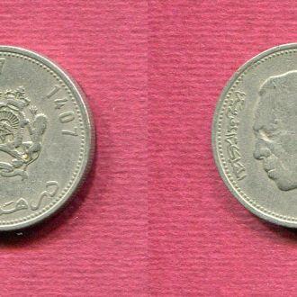 Марокко 1 дирхам 1987 №2