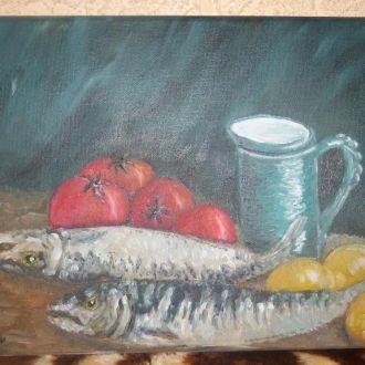 картина холст-масло 35-25 мотивы Ван-Гога