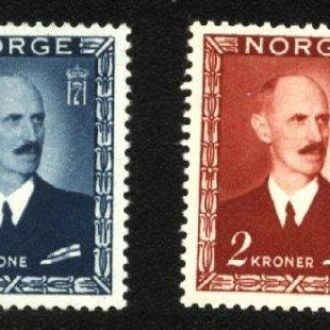 Норвегия 1946  г. № 315-318 сер