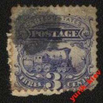 США  1869г. №28 гаш