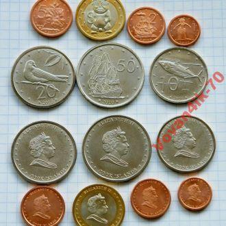 Кука острова- набор монет 2010 7 сет