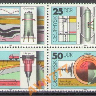 ГДР 1980 Авто Геофизика наука кварт сцепка **