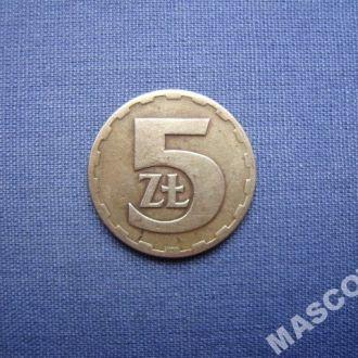Польша 5 злотых 1975г