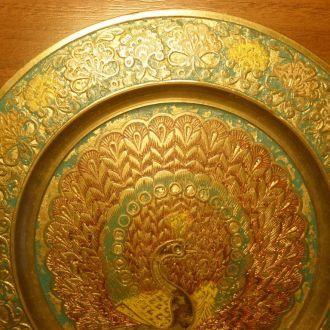 Тарелка на стену перегородочная эмаль бронза