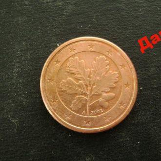 1 евроцент 2002 А Германия