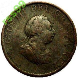 Англия 1/2 пенни 1799г.