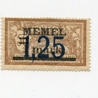 ГЕРМАНИЯ 1922* МЕМЕЛЬ НАДПЕЧАТКА