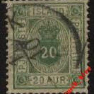 Исландия  1876г № 7 A гаш