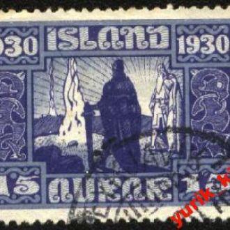 Исландия1930 г. №  129 гаш