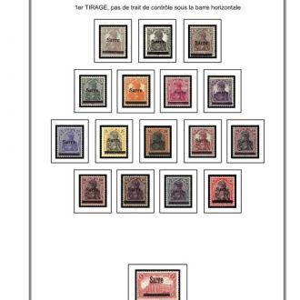Саар 1920-1934 и 1947-1959 Иллюстрированные листы