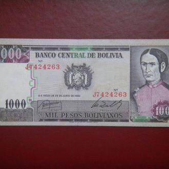 Боливия 1000 песо 1982