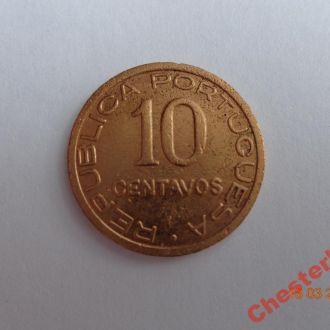 Португальский Мозамбик 10 сентаво 1936 состояние очень редкая