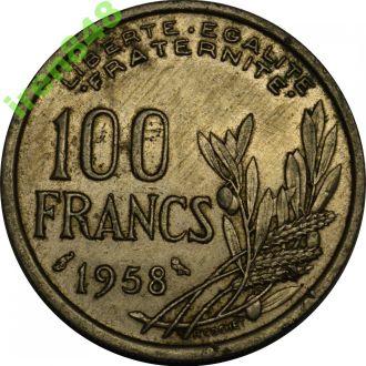 Франція 100 франків 1958 РІДКІСНА  #46