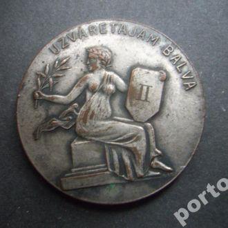 настольная медаль 1929 медь посеребрение