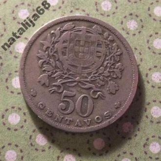 Португалия 1944 год монета 50 сентаво !