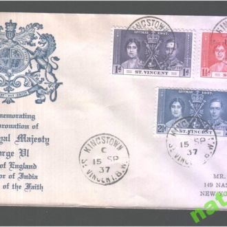 NM Ст. Винсент 1937 г  MNH - коронация