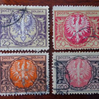 Польша,1922г,М171-74 -15эвро