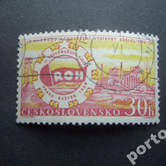 марка Чехословакия 1959 индустриализация