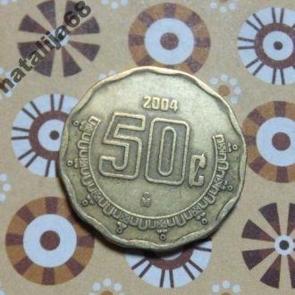 Мексика 2004 год монета 50 сентаво !