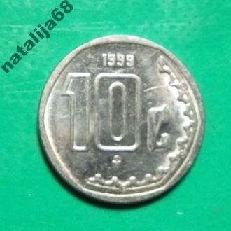 Мексика 1999 год монета 10 сентаво !