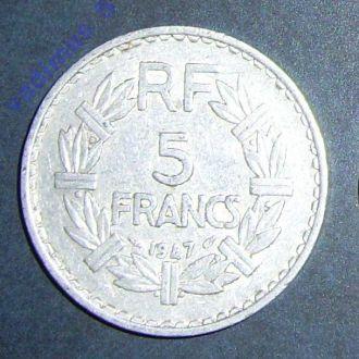 Франция, 5 франков 1947 года