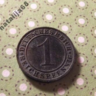 Германия 1924 год монета 1 пфенинг G !