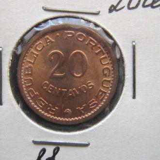 20 сентаво Мозамбик 1973 состояние колония