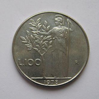 100 лир = 1978 г. = ИТАЛИЯ