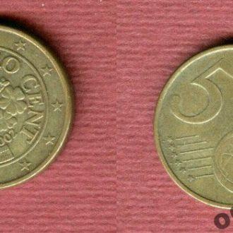 Австрия 5 евроцентов 2002