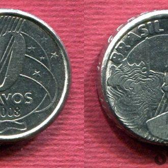 Бразилия 50 сентаво 2008